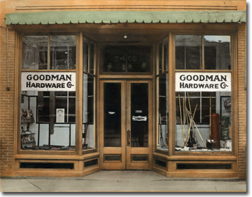 From 1923 until 1952 the store was under the ownership of R. Winston Harris nephew of Mr. Goodman. From 1952 until 1980 Philip H. Bray and Katherine ... & History - Goodman Glass